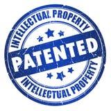 Patentierter Stempel Stockfotografie