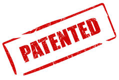 Patentierter Stempel lizenzfreie abbildung