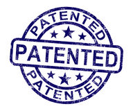 Patentiertes Stempel-Vertretung registriertes Patent oder eingetragenes Warenzeichen Stockbilder