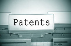 Patents register folder Royalty Free Stock Images
