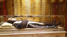 Pater Pio: il corpo della st Pius Fotografie Stock Libere da Diritti