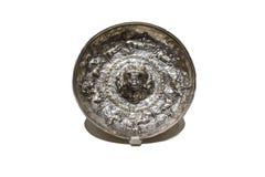 Patera für Trankopfer von der iberischen Kultur gemacht von vergoldetem Silber Lizenzfreies Stockbild