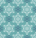 Paterm with abstract snowflakes Royalty Free Stock Image