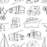 Patern μεταφορά Doodle Στοκ εικόνες με δικαίωμα ελεύθερης χρήσης