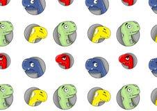 Patern de felices dinosaurios fotos de archivo