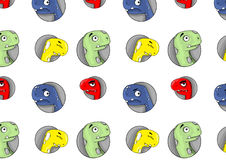 Patern dei dinosauri allegri Royalty Illustrazione gratis