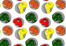 Patern dei dinosauri allegri Illustrazione Vettoriale