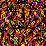 Patern. Seamless african coloful pattern with black stockes Stock Images