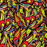 Patern4. Seamless tropical coloful pattern with black stockes Stock Photography