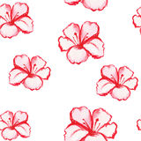 Patern seamless wallpaper with flowers. Roses, watercolor vector Royalty Free Stock Photo