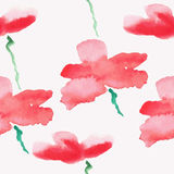 Patern seamless wallpaper with flowers. Roses, watercolor vector Royalty Free Stock Photos