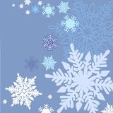 Patern sneeuwvlokken seamles Royalty-vrije Stock Afbeelding