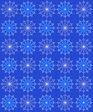Patern with snowflakes Royalty Free Stock Images