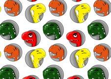 Patern von fröhlichen Dinosauriern Lizenzfreies Stockfoto