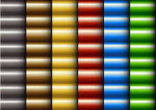 PaternCurl. Pattern many color in curl slyle Stock Images