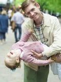 Paternidad de la felicidad Imagen de archivo libre de regalías