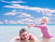 Paternidad feliz Fotografía de archivo libre de regalías