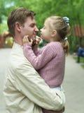 Paternità di felicità Immagini Stock Libere da Diritti