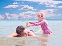 Paternità felice Fotografie Stock Libere da Diritti