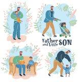 paternity Padre e hijo stock de ilustración