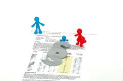 Paternity Test DNA Analysis for Parents. Isolted on white Background stock photography