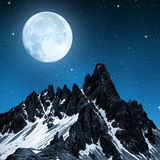 Paternkofel in night Stock Photography