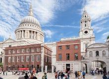 圣保罗大教堂Paternoster广场伦敦 免版税库存照片