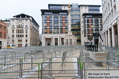 Paternoster Square closed in London, 2012 Stock Photos