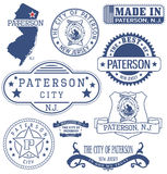 Paterson city, NJ, generic stamps and signs Royalty Free Stock Photo
