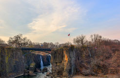 Paterson Great Falls on a sunny evening Stock Photography