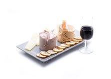 Pates med vin Royaltyfri Fotografi