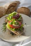 Patesmörgås på plattan. Royaltyfri Bild