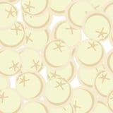 Patetrn inconsútil de las bolas de masa hervida congeladas Ornamento del vector para el amor de la comida Fotos de archivo libres de regalías