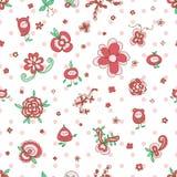 Patetrn senza cuciture della foglia leggiadramente del fiore illustrazione di stock