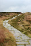 Path. Paved path on the moors in England royalty free stock images