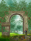 Path. In a fantasy garden royalty free illustration