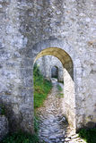 Path. Concept, citadel arches in sisteron, provence, france Stock Image