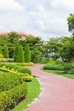 Path. Through the garden into the house Stock Photography