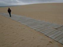 Path. Man walkin (galiza, spain Royalty Free Stock Image