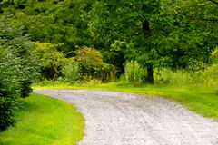 Path. A curved stone path leads where Royalty Free Stock Images