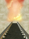 Path. In the heaven with nebula Royalty Free Stock Photo