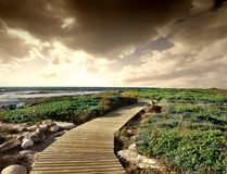 Path. A path with a panoramic view Stock Images