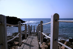 PATH. To rocky coast royalty free stock photo