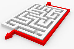 Path across labyrinth Stock Photo