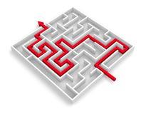 Path across labyrinth Royalty Free Stock Photo
