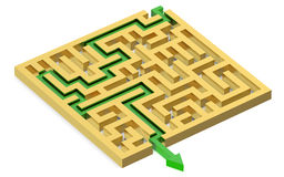 Path across labyrinth Royalty Free Stock Images