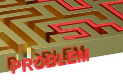 Path across labyrinth, problem concept Stock Photo