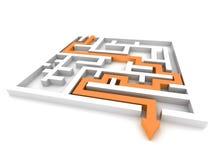 Path across labyrinth Stock Image