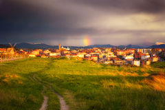 Path in Aixerrota in Getxo Royalty Free Stock Photography