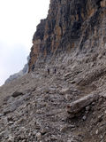 Path Alfredo Benini in the Brenta Dolomites mountains in Italy Royalty Free Stock Image